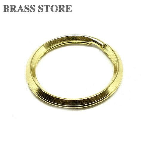 BRASS STORE ブラスストア / 真鍮製 二重リング 直径23mm / ゴールド ダブルリング パーツブラス カスタムパーツ キーホルダー キーリング 二重カン レザークラフト ブラス brass