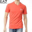 EMPORIO ARMANI:EA7【エンポリオアルマーニ】メンズTシャツ/半袖/Vネック/レッド/273124 4P209/2014春夏新作