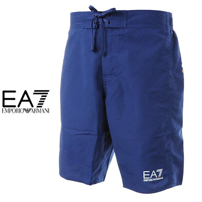 エンポリオアルマーニ EA7 EMPORIO ARMANI 水着 サーフパンツ 海パン ブルー メンズ 902006 7P730