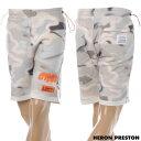 ヘロン プレストン HERON PRESTON スウェットショートパンツ メンズ FLEECE SHORTS CTNMB SPRAY HMCI004S20896008 ホワイトカモフラ 2020春夏セール