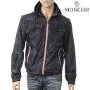 MONCLER モンクレール ジップアップブルゾン パーカー メンズ LYON ブラック 4107805 53597
