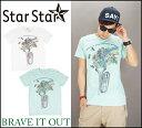 StarStar【2カラー】ワンダフル ワールド 半袖Tシャツ(スタースター)S/S TEE/インクジェット/BRAVE IT OUT(ブレイブ イット アウト)LA0441