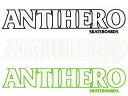 ANTI HERO ANTIHERO アンチヒーロー アンタイヒーロー ステッカー デッキ シール デカール スケート スケボー skate 横幅:約22cm×縦幅:約4.6cm メール便可能