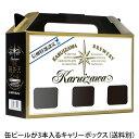 軽井沢ビールビールギフトキャリーボックスクラフトビールプチギフト用お土産手土産化粧箱缶3本用