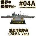 世界の艦船キット 04A 重巡洋艦 妙高 Atype フルハル Ver. 1/2000 | F-toys 食玩 エフトイズ