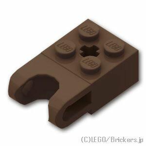 レゴ テクニック パーツ ブロック 2 x 2 - ボールソケット ワイド [ Dark Brown / ダークブラウン ] | lego 部品