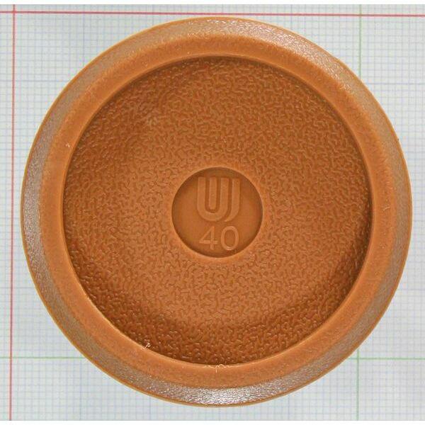 WAKI 和気産業 イスキャップ平置薄茶丸 GK-264 40mm