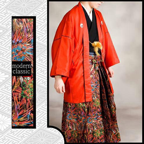 081m【朱赤×彩色乱模様/レンタル4泊5日/往...の商品画像