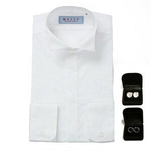 ウイングカラーシャツ カフスボタン ショップ フォーマルシャツ フォーマル たっぷり しなやか