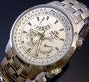 信頼できる時計オリエント/ORIENT 【レトログラード】メンズ腕時計 ホワイト文字盤 メタルベルト【送料無料】LUU00001W0