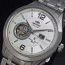 ORIENT【オリエント】メンズ腕時計 自動巻 スケルトン ホワイト文字盤 メタルベルト MADE IN JAPAN 海外モデル SDB05001W0