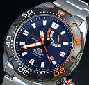 ORIENT/M-FORCE【オリエント/エムフォース】DIVER'S/ダイバーズウォッチ メンズ腕時計 自動巻 パワーリザーブ ネイビー文字盤 メタルベルト MADE IN JAPAN 国内正規品 WV0191EL【02P01Oct16】