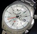 ORIENT/ORIENT STAR【オリエント/オリエントスター】GMT メンズ腕時計 自動巻 パワーリザーブ シルバー文字盤 メタルベルト MADE IN JAPAN 海外モデル SDJ00002W0