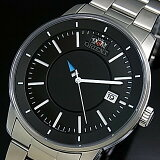 ORIENT/STYISH AND SMART【オリエント/スタイリッシュアンドスマート】DISK メンズ腕時計 自動巻 ブラック文字盤 メタルベルト MADE IN JAPAN 海外モデル SER0200BB0