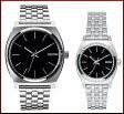 NIXON【ニクソン】TIME TELLER/タイムテラー ペアウォッチ 腕時計 BLACK ブラック文字盤 メタルべルト【送料無料】A045-000/A399-000(国内正規品)