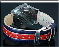 NIXON【ニクソン】SENTRY38LEATHER/セントリー38レザーメンズ腕時計ホワイト/ストライプス【送料無料】A377-1854(国内正規品)