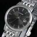 CITIZEN/エコドライブ【シチズン】レディース ソーラー腕時計 ブラック文字盤 メタルベルト EW1580-50G MADE IN JAPAN(国内正規品)