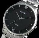CITIZEN/エコドライブ【シチズン】メンズ ソーラー腕時計 ブラック文字盤 メタルベルト AR0070-51E MADE IN JAPAN(海外モデル)【0...