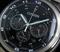 CITIZEN/Chronograph�ڥ�������/����Υ���աۥ�󥺥����顼�ӻ��ץ֥�å�ʸ���ץ᥿��٥��CA4034-50E(������ǥ�)
