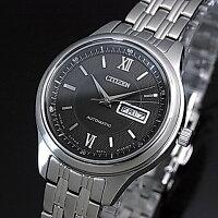 CITIZEN/Automatic【シチズン/オートマチック】自動巻ペアウォッチ腕時計ブラック文字盤メタルベルトNY4050-54E/PD7150-54E(国内正規品)MADEINJAPAN