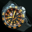LUMINOX【ルミノックス】ネイビーシールズ DIVE WATCH メンズ腕時計 オレンジ
