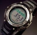 ★方位と温度★が計測可能 【カシオ/CASIO】SPORTS GEAR/スポーツギア メンズ腕時計 ツインセンサー搭載 ブラックラバーベルト SGW-100-1V 海外モデル