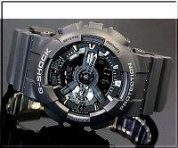 CASIO/G-SHOCK/Baby-G【カシオ/Gショック/ベビーG】ペアウォッチアナデジ腕時計ブラック(国内正規品)GA-110-1BJF/BA-112-1AJF