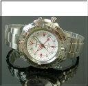 2重の回転ベゼルがイカツイ 激レア海外モデル 電池交換不要! キネテック(自動巻蓄電)  SEIKO/セイコー【キネテック】メンズ腕時計 ホワイト文字盤 メタルベルト SKA421P1