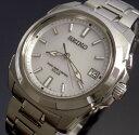 大人のエレガント時計SEIKO/セイコー【BRIGHTZ/ブライツ】ソーラー電波 チタン メンズ腕時計 チタン ホワイト文字盤 メタルベルト【送料無料】SAGZ023