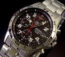 大人時計! SEIKO海外モデル!SEIKO/セイコー【クロノグラフ】ミリタリー メンズ腕時計 メタルベルト ブラック文字盤 SND375 海外モデル