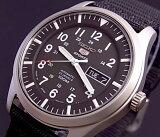 SEIKO/SEIKO5 Sports【セイコー5スポーツ/ファイブスポーツ】自動巻 メンズ腕時計 ナイロンベルト ブラック文字盤 SNZG15J1 MADE IN JAPAN 海外モデル