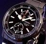SEIKO/Chronograph【セイコー/クロノグラフ】メンズ腕時計 ブラック文字盤 ブラックメタルベルト SNN229P1 海外モデル【02P27May16】