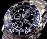 SEIKO/Alarm Chronograph【セイコー/アラームクロノグラフ】メンズ腕時計 メタルベルト ブラック文字盤 SNA225P1 海外モデル【02P18Jun16】