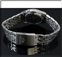 SEIKO/SEIKO5【セイコー5/セイコーファイブ】自動巻メンズ腕時計メタルベルトダークグリーン文字盤SNK665K1海外モデル