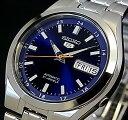 SEIKO/SEIKO5【セイコー5/セイコーファイブ】自動巻 メンズ腕時計 メタルベルト ネイビー文字盤 SNKG21J1 MADE IN JAPAN 海外モデル