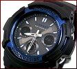 CASIO/G-SHOCK【カシオ/Gショック】ソーラー電波腕時計 アナデジモデル ブラック×ブルー(海外モデル)AWG-M100A-1A【02P01Oct16】