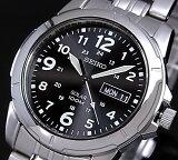 SEIKO/ソーラー時計【セイコー】メンズ腕時計 メタルベルト ブラック文字盤 SNE095P1 海外モデル SBPX023【02P05Nov16】