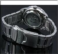 SEIKO/セイコー【SEIKO5/5スポーツ】自動巻メンズ腕時計JAPANMADEメタルベルトブラック文字盤SNZH55J1【楽ギフ_包装選択】海外モデル【YDKG-k】