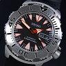 SEIKO/200m diver's watch【セイコー/200m防水ダイバーズ】自動巻 メンズ腕時計 ブラックラバーベルト ブラック/レッド文字盤 MADE IN JAPAN 海外モデル SRP313J1【02P09Jul16】