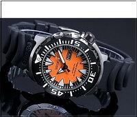 SEIKO/セイコー【200m防水ダイバーズ】自動巻メンズ腕時計ラバーベルトオレンジ/ブラック文字盤MADEINJAPAN海外モデルSRP315J1【楽ギフ_包装選択】【YDKG-k】