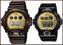 CASIO/G-SHOCK/Baby-G【カシオ/Gショック/ベビーG】ペアウォッチ 腕時計 ブラック/ブラウンXゴールド DW-6900BR-5/BG-6901-1(海外モデル)