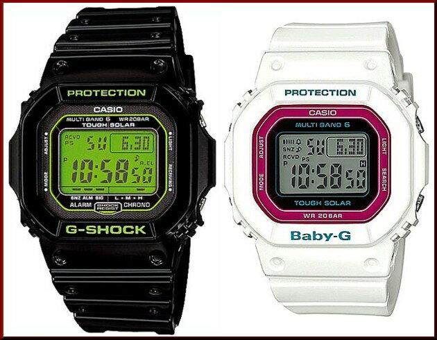 CASIO/G-SHOCK/Baby-G【カシオ/Gショック/ベビーG】ペアウォッチ ソーラー電波腕時計 ブラック/ホワイト(国内正規品)GW-M5610B-1JF/BGD-5000-7CJF ★5600シリーズ電波ソーラーペアウォッチ★