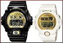 CASIO/G-SHOCK/Baby-G【カシオ/Gショック/ベビーG】腕時計 ペアウォッチ ブラック/ホワイトXゴールド (国内正規品)GD-X6900FB-1JF/BG-6901-7JF