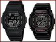 CASIO/G-SHOCK/Baby-G【カシオ/Gショック/ベビーG】ペアウォッチ ソーラー電波腕時計 ブラック(国内正規品)GW-M5610-1BJF/BGD-5000-1JF【02P29Aug16】