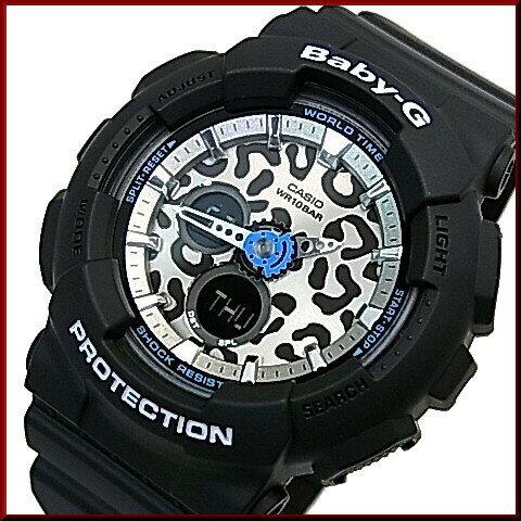 CASIO/Baby-G【カシオ/ベビーG】Leopard Series/レオパードシリーズ レディース腕時計 ブラック(国内正規品)BA-120LP-1AJF ★2015年8月新作★人気のレオパードシリーズ☆しが☆
