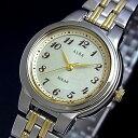 SEIKO/ALBA【セイコー/アルバ】レディース ソーラー腕時計 ライトシャンパン文字盤 コンビメタルベルト(国内正規品)AEED701
