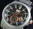 SEIKO/Premier【セイコー/プルミエ】キネテック パーペチュアルカレンダー メンズ腕時計 メタルベルト ブラック/ピンクゴールド文字盤 SNP098P1(海外モデル)【P01Jul16】