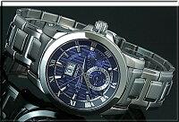 SEIKO/Premier【セイコー/プルミエ】キネテックパーペチュアルカレンダーメンズ腕時計メタルベルトネイビー文字盤SNP113P1(海外モデル)