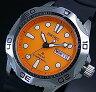 SEIKO/PROSPEX ソーラー時計【セイコー/プロスペックス】DIVER'S/ダイバーズウォッチ メンズ腕時計 ブラックラバーベルト オレンジ文字盤 SNE109P1 海外モデル