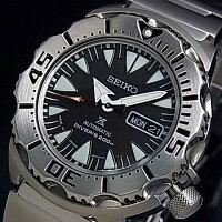 SEIKO/PROSPEX【セイコー/プロスペックス】メンズDIVER'S/ダイバーズウォッチ自動巻メンズ腕時計メタルベルトブラック文字盤MADEINJAPAN海外モデルSRP307J1